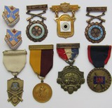 Rare Early 1920's Minnesota N.G.  Named 14kt Dist. Marksman/EIC Badges + Other Medals Group