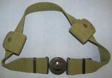 Scarce  U.S. Army M1910 NCO Web Belt/Buckle W/2 Eagle Snap Cartridge Pouches