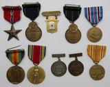 WW1/WW2 USN/USS Colorado Ensign USN Issue Bronze Star-Marksman/14kt Pistol Shot Badges-Named