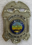 Scarce 1960-70's State Of Ohio Merket Bureau (Private Investigator) Badge-Numbered