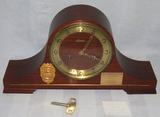 Ca. 1971 Niagra Falls, N.Y. Police Dept. Patrolman Presentation Retirement Clock W/Badge