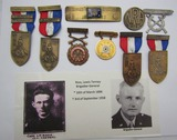 Rare! Career U.S. Army Brig. General Early 1920's NRA/EIC/14kt Cavalry Marksman Badge/Medals