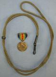 2pcs-WW1 U.S. Victory Medal-Pistol Lanyard