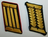2pcs-WW2 German Wehrmachtbeamte Armed Forces Official Single Collar Tabs