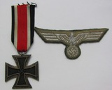 2pcs-WW2 Iron Cross 2nd Class-NCO Flatwire Embroidered Breast Eagle