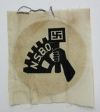 WW2 NSBO  Bevo Embroidered Sports Shirt Insignia