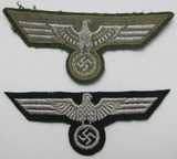 2pcs-WW2 Wehrmacht NCO And Enlisted Breast Eagles