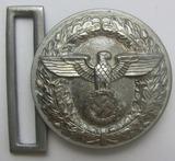 Rare Small Size Political Leader Brocade Belt Buckle In Silver