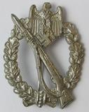 Infantry Assault Badge In Silver-W.H. Maker Marked For Wilhelm Hobacher