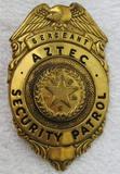 Vintage 1940-50's State Of Texas Aztec Security Patrol Sergeant's Badge