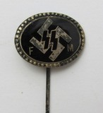 Original WW2 Period SS/FM Supporting Member Donation Stickpin-By Deschler-Numbered