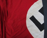 Large Size Multi Piece Nazi Party Battle Flag-Double Sided W/Hanger clips