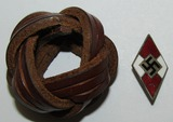 2pcs-Hitler Youth Knife Diamond Grip Insignia-Leather Scarf Slide