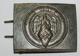 Early Nickel Finish Hitler Youth Belt Buckle-RZM M4/39-Assmann