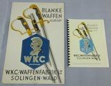 2pcs-Rare Period Original WKC Sword Advertising Board-WKC Product Catalog Reprint