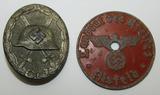 2pcs-WW2 German Silver Wound Badge-Vehicle ID Disc