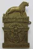 Scarce Nazi Police Sporting Event Rally/Gautag Badge-1939 Dated W/Maker Mark