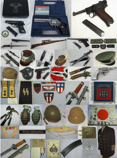 MILITARY COLLECTIBLES AUCTION  SEPT. 28 2021 @ 5pm