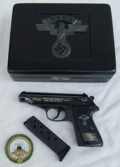 Rare NSKK Walther PP Shooting Competition 1st Place Awarde Pistol W/Case-1943
