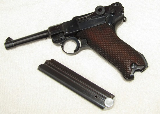 Excellent Condition 1937 S/42 Luger-Marching 3 Digit Serial Numbers-Matching Number Clip