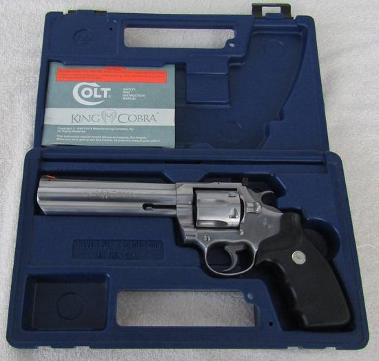 Colt .357 Cal. King Cobra Long Barrel Revolver With Original Case