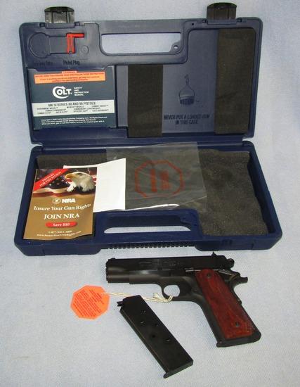 Colt's Series 80 Commander Model .45 ACP Semi Auto Pistol With Case