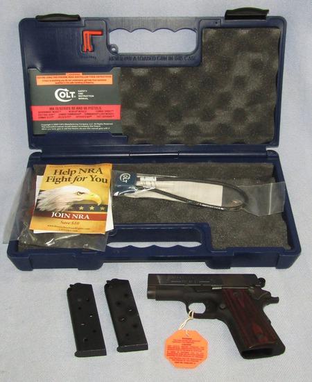 "Colt ""NEW AGENT"" Series 90 .45 ACP Lightweight Semi Auto Pistol With Original Case"