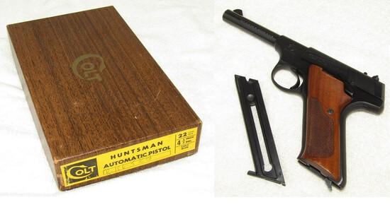 Rare Colt Huntsman .22 cal. Long Pistol With Original Box/Purchase Receipt