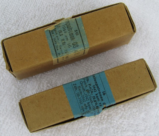 32 Rounds P08/P38 Pistol Ammo-1942/1944 Dated With Original Boxes
