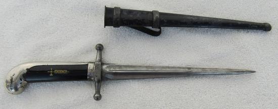"Rare Model 1925 Italian MVSN ""Blackshirts"" Dress Dagger With Scabbard"
