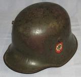 WW1 German M16/17 Helmet With Liner-Post War SS Decal Set