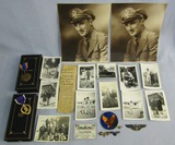 WW2 MIA/KIA/POW--US Army Air Corp Purple Heart/Air Medal/Caterpillar Club/Photo Group-Named