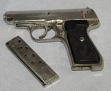 Wehrmacht Proofed Sauer & Sohn Model 38H Pistol-Late War Variant-Nickel Finish