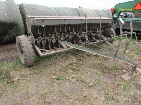 John Deere Van Brunt 10 FT Double Disc Grain Drill Ground