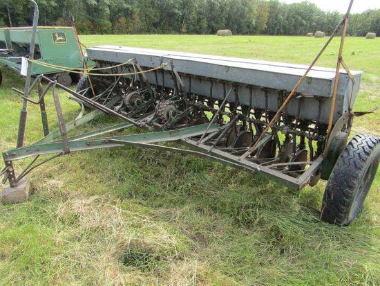 John Deere Van Brunt 12 FT Double Disc Grain Drill On Low