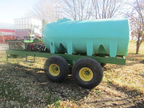 Well Built Tandem Axle Spray Tender Trailer, 1600 Gallon