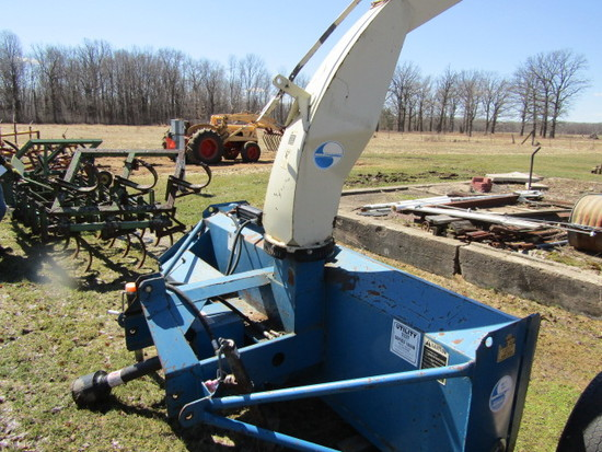 Snow Machines 8 FT. Single Auger Two Stage 3 Point Snow Blower with Hydraul