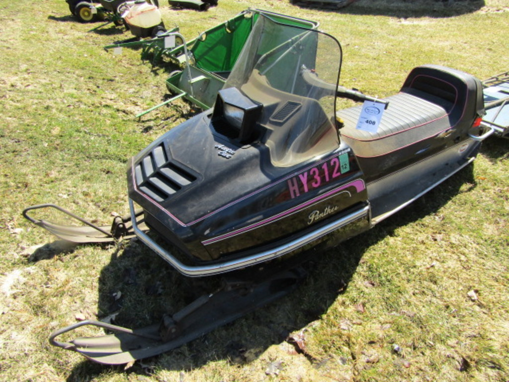 1976 Arctic Cat 4000 Panther Snowmobile, Original Cover, 17 Inch Track, Sho