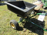 John Deere Pull Type Fertilizer Spreader with Poly Box
