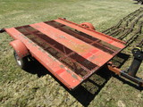 6 FT. X 8 FT. Steel Bed Tilting Snowmobile Trailer, Your Bid Plus Tax, Lice
