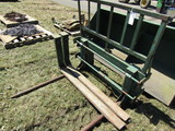 Bracket Frame that Fits Shur-Lock Bucket System with 2 Prong Bale Spear and
