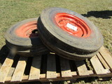 2 7.50 X 16 Front Tractor Tires on Allis Rims
