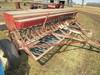 IH 12 FT. Low Rubber End Wheel Grain Drill. Grass Seeder, Hydraulic Lift