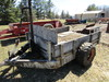 6 FT. X 8 FT. Two Wheel Wooden Bed Hydraulic Dump Trailer