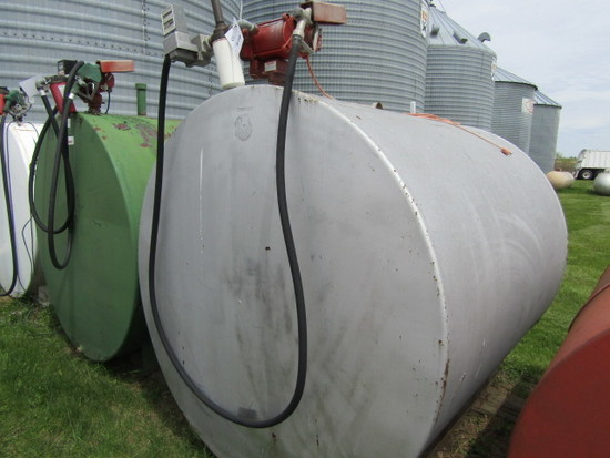 1000 Gallon Fuel Tank with Fillrite Electric Meter Pump
