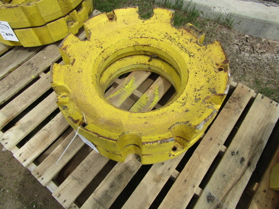 Pair of John Deere 450 # Rear Wheel Weights ( 900# Total)