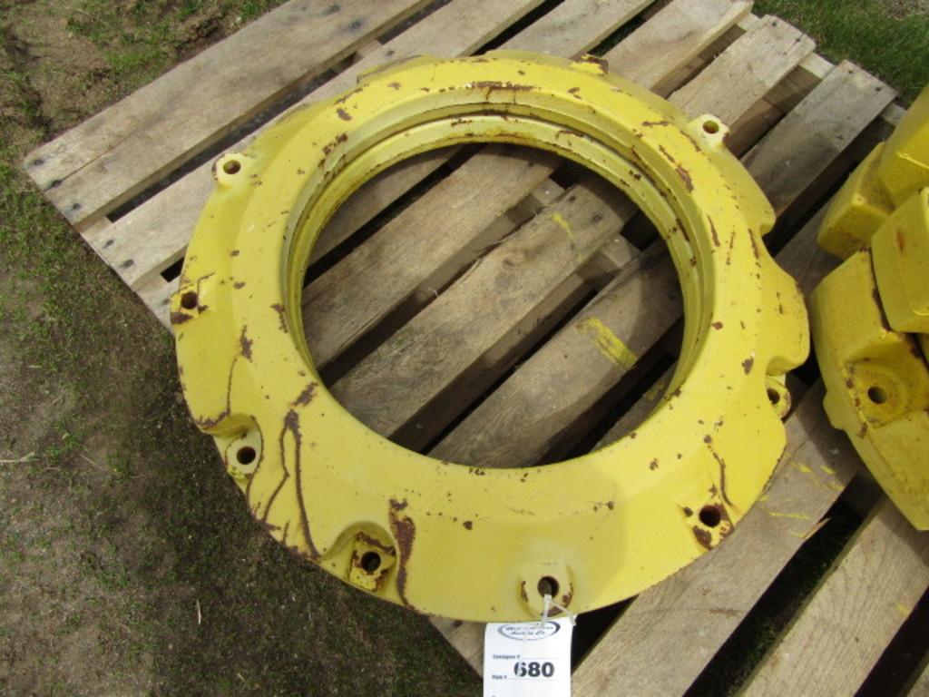 Pair of John Deere 165 # Rear Wheel Weights ( 330 # Total )