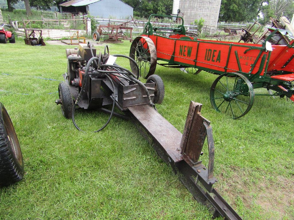 Shop Built Hydraulic Wood Splitter with Wisconsin Gas Engine On Transport