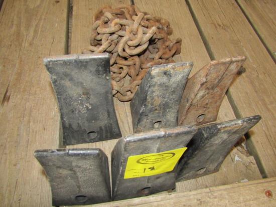 251. 6 Steel Bucket Teeth, Odd Chain, Sales Tax Applies