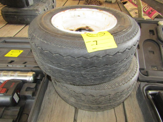 251. (2) 16.5 X 6.5-8 Tires & Rims, Your Bid is for the Pair, Sales Tax Applies